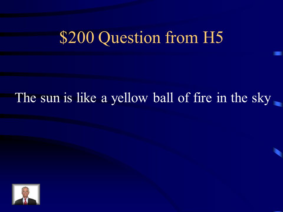 $100 Answer from H5 Metaphor