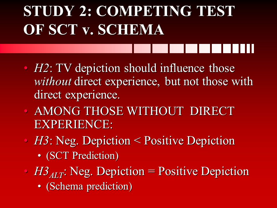 STUDY 2: COMPETING TEST OF SCT v.