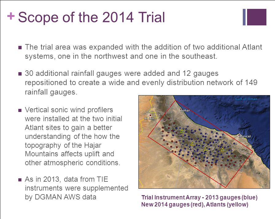 + Scope of the 2014 Trial The trial area was expanded with the addition of two additional Atlant systems, one in the northwest and one in the southeas
