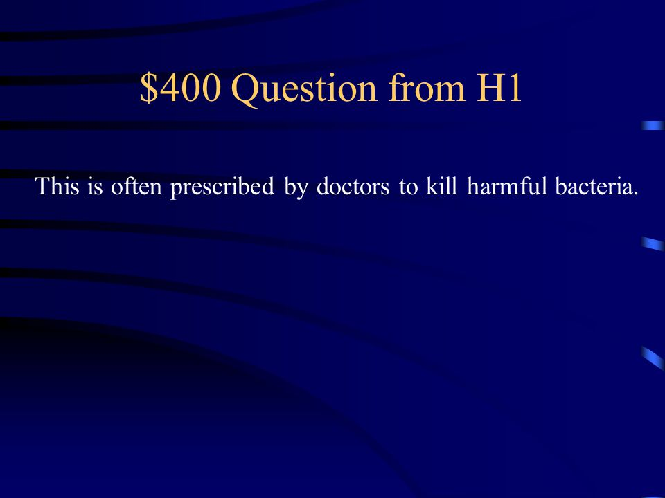 $400 Question from H4 This looks like a blob and can be found in ponds and rivers.