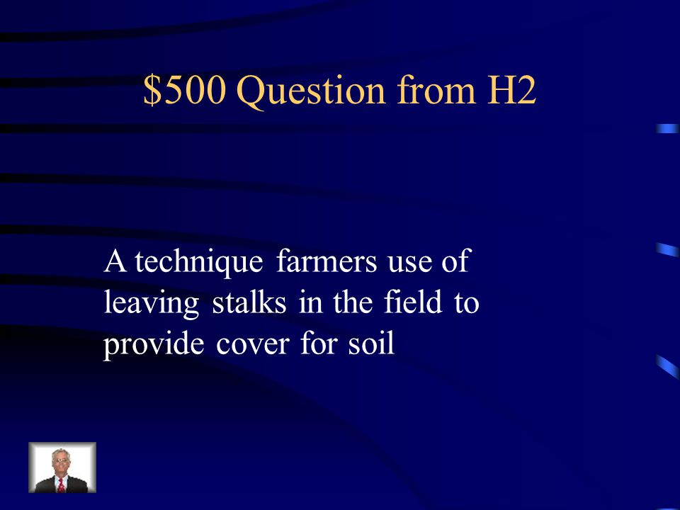 $400 Answer from H2 What is Terracing