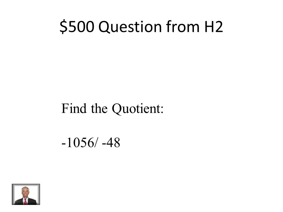 $400 Answer from H2 -504