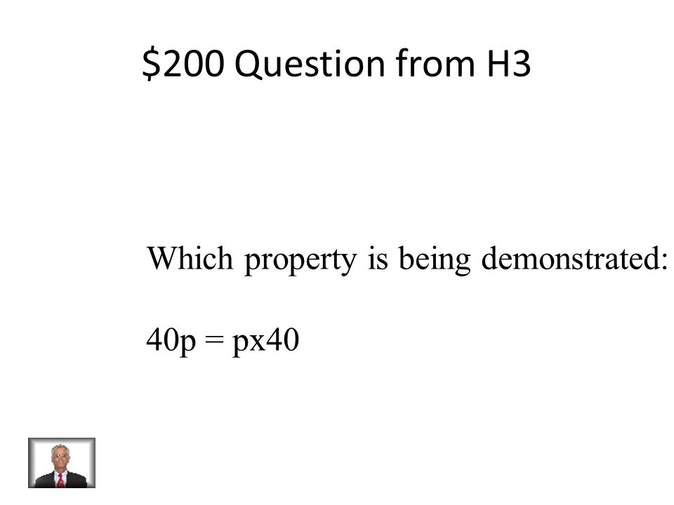 $100 Answer from H3 Associative Property of Addition