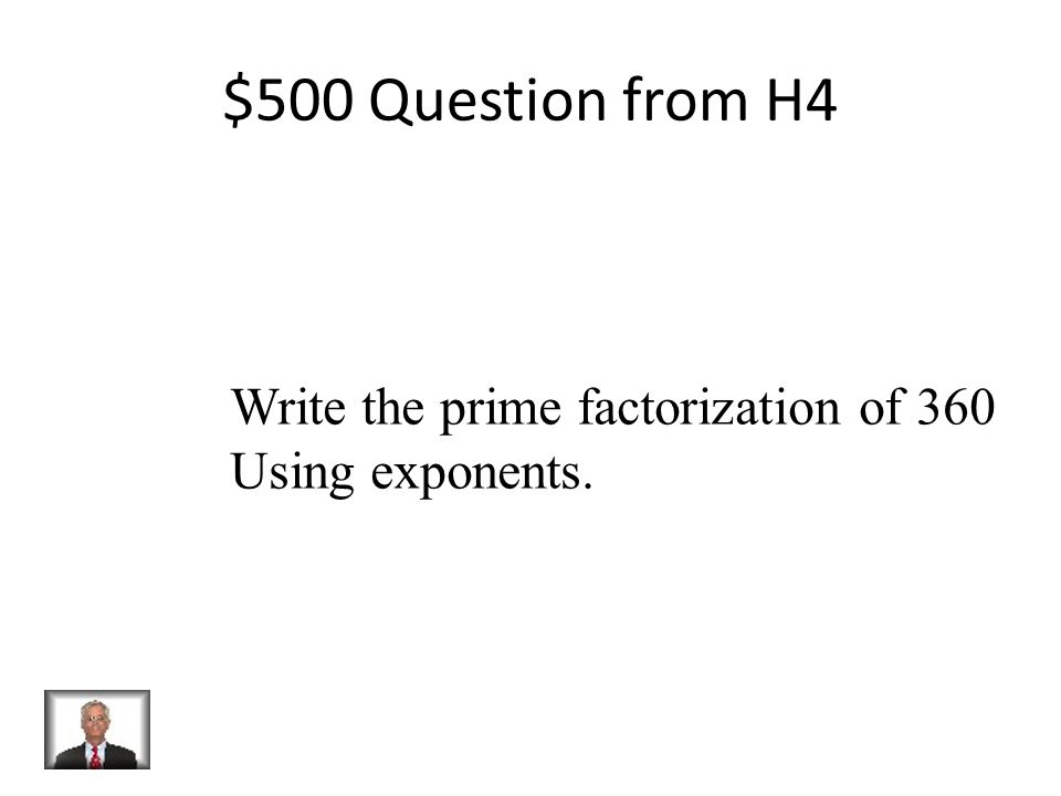 $400 Answer from H4 X > 11