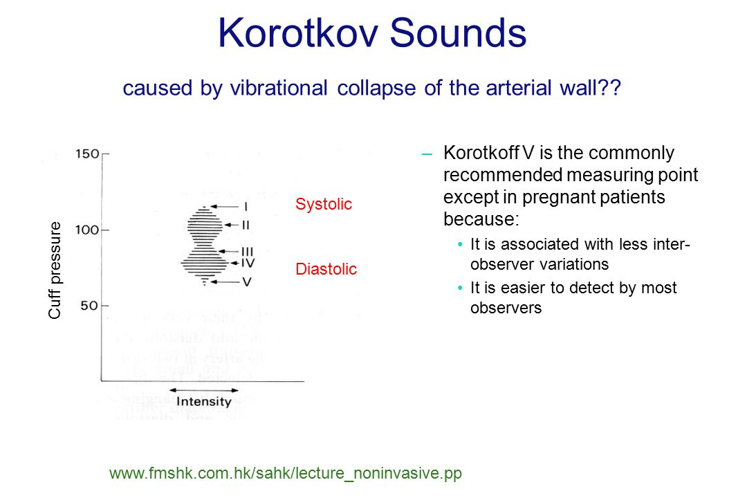 Korotkov Sounds caused by vibrational collapse of the arterial wall .