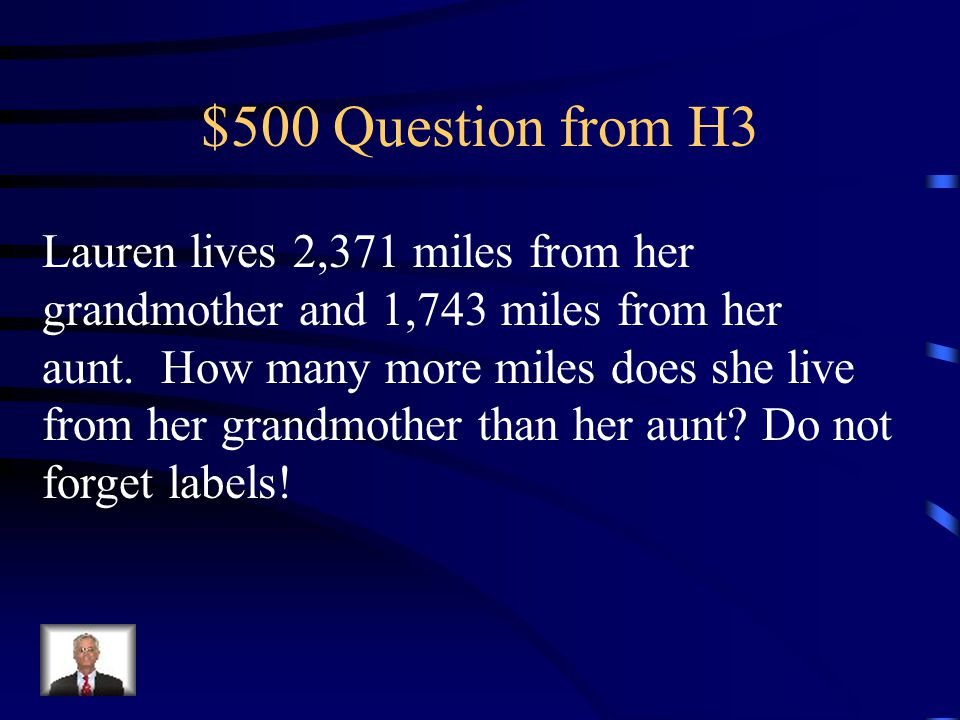 $400 Answer from H3 N = 48