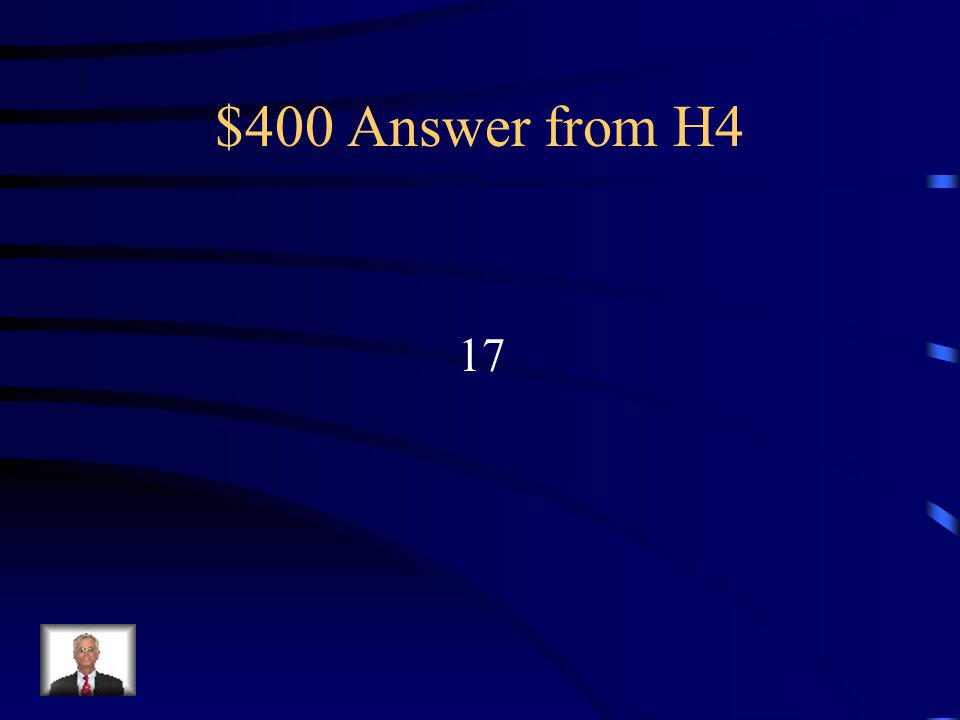 $400 Question from H4 37 + r = 54