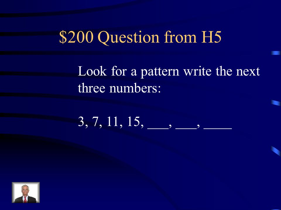 $100 Answer from H5 34