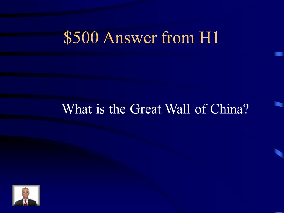 $500 Question from H1 The largest construction project in China's history. It can not be seen From space though.