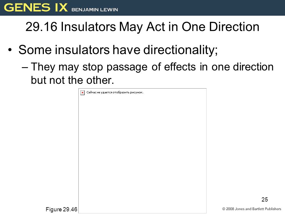 25 29.16 Insulators May Act in One Direction Some insulators have directionality; –They may stop passage of effects in one direction but not the other.
