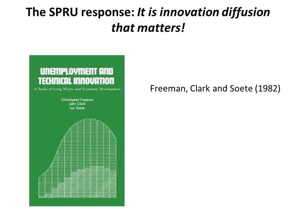 The SPRU response: It is innovation diffusion that matters! Freeman, Clark and Soete (1982)