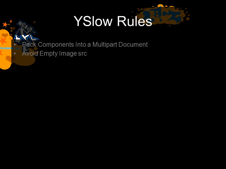YSlow Rules Pack Components Into a Multipart Document Avoid Empty Image src