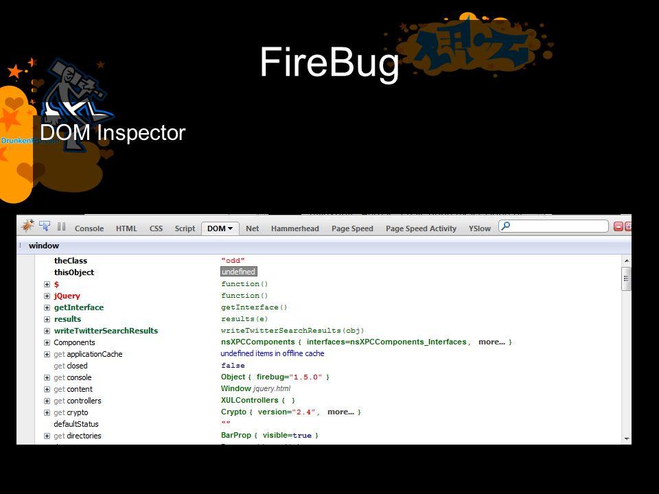 FireBug DOM Inspector