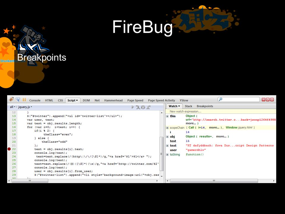 FireBug Breakpoints