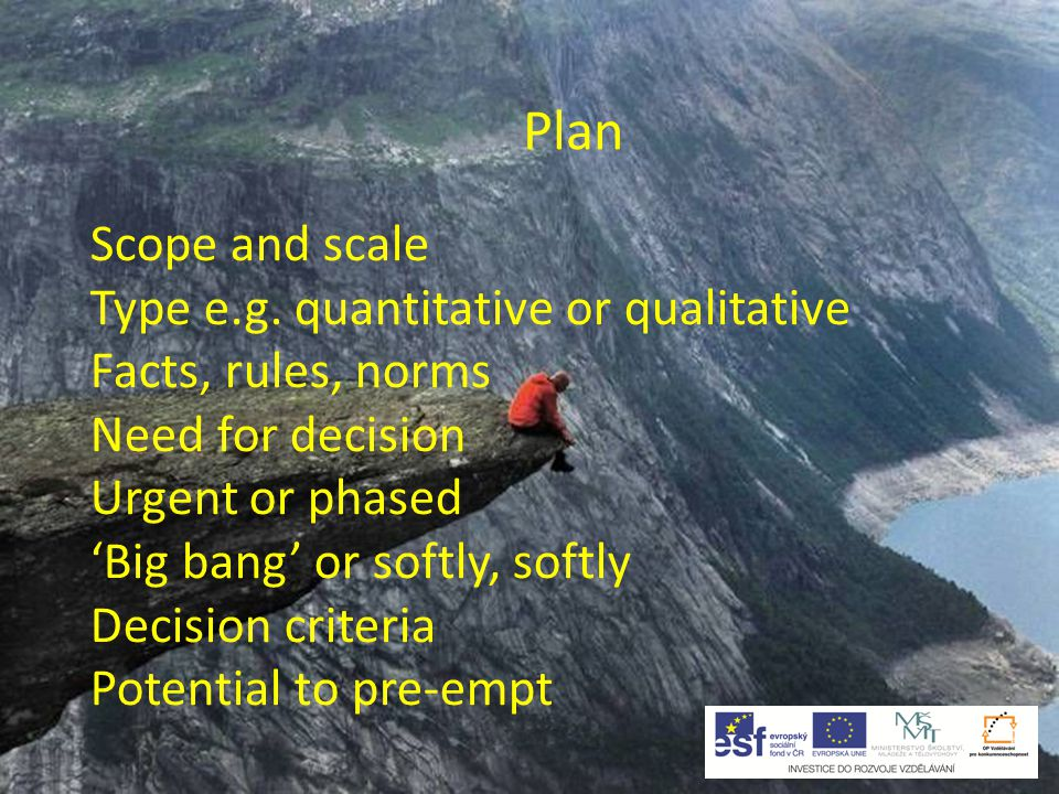 Plan Outcomes Ideal Fair Fallback / crucial Reject Packages Trade-offs
