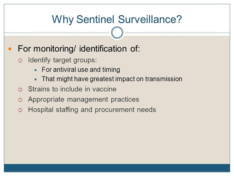 Why Sentinel Surveillance.