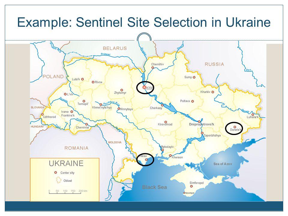 Example: Sentinel Site Selection in Ukraine