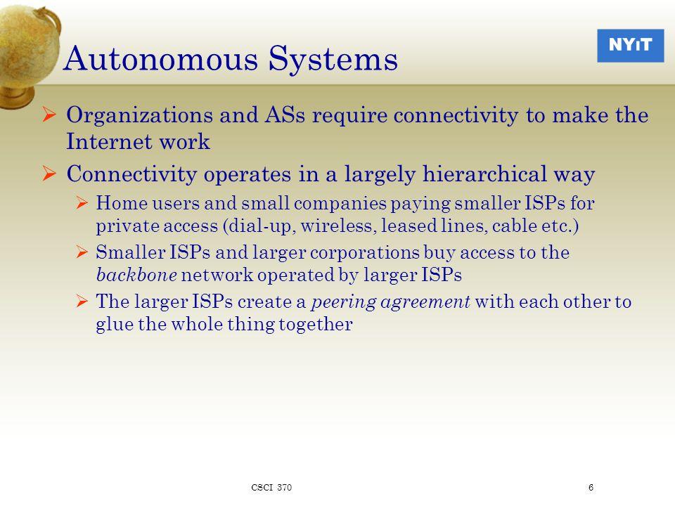 SONET Multiplexing Structure AU : Administrative Unit TUG: Tributary Unit Group CSCI 37037