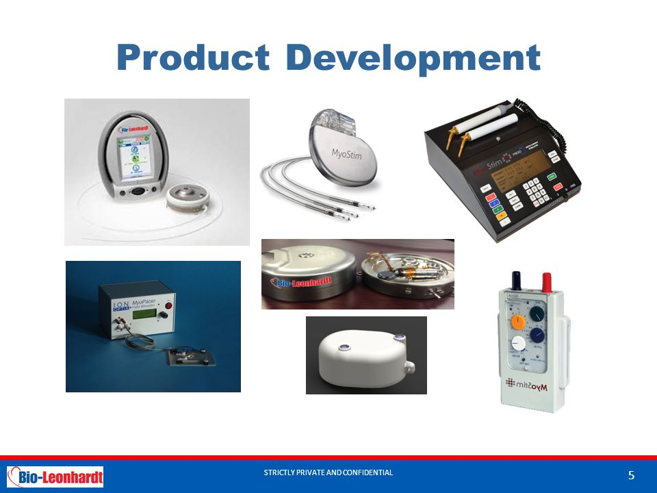 Product Development STRICTLY PRIVATE AND CONFIDENTIAL 5