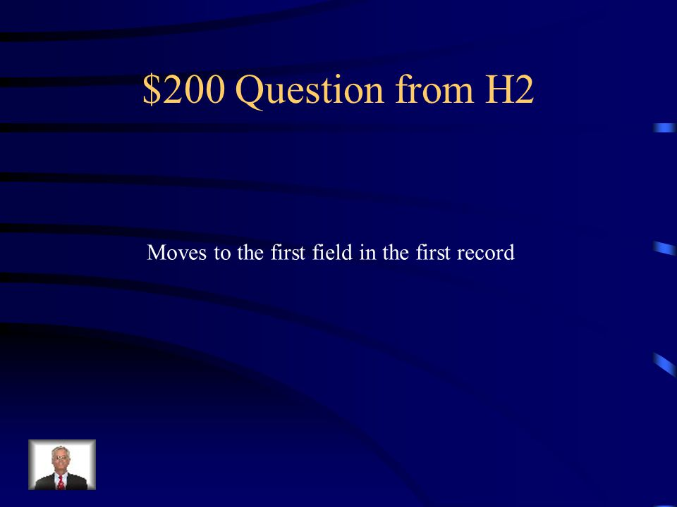 $100 Answer from H2 What is… End