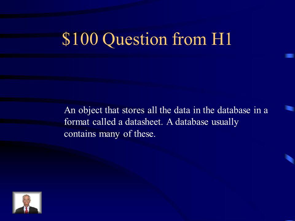 Jeopardy Objects Navigation Buttons True/False Parts of a Report Vocabulary Q $100 Q $200 Q $300 Q $400 Q $500 Q $100 Q $200 Q $300 Q $400 Q $500 Fina