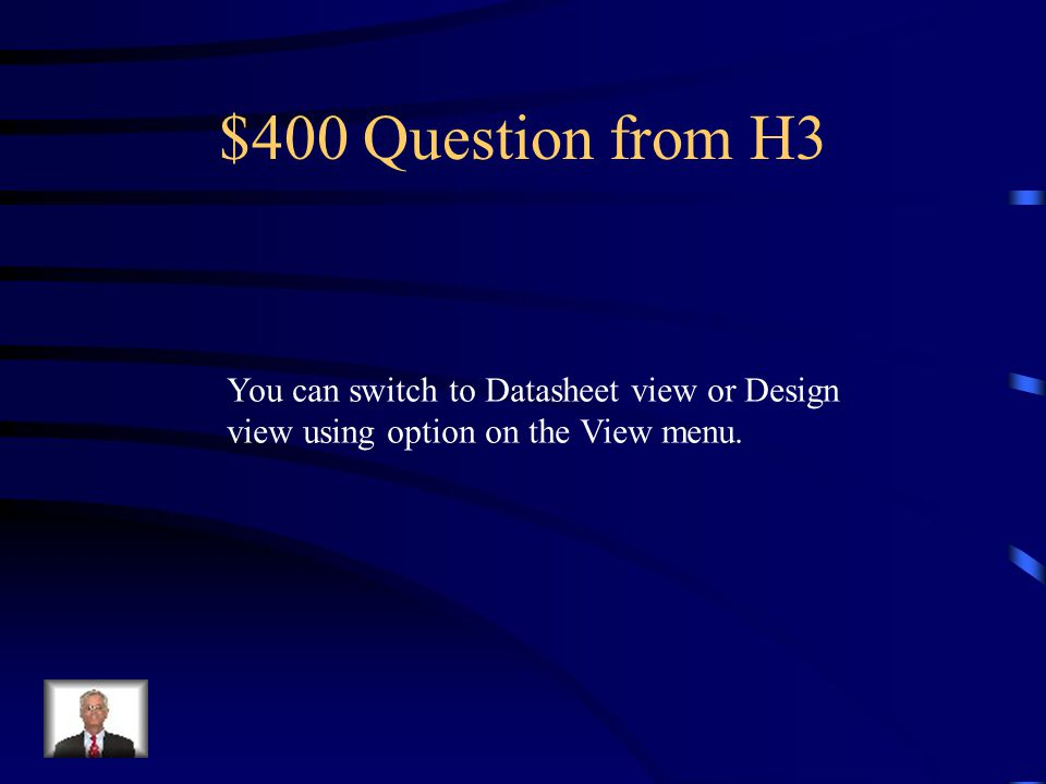 $300 Answer from H3 What is… False