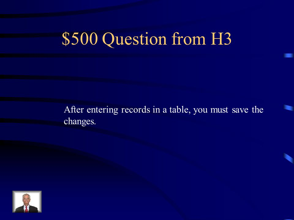 $400 Answer from H3 What is… True