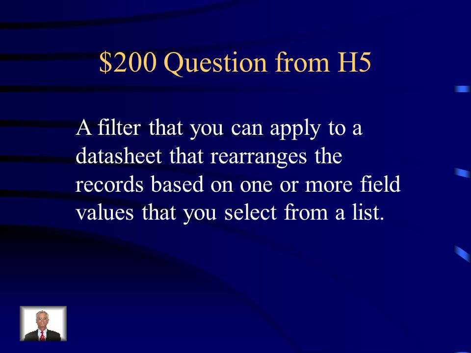 $100 Answer from H5 What is navigation pane.
