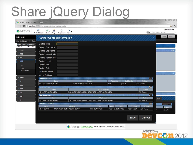 Share jQuery Dialog