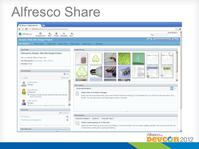 Some Alfresco UI Architectures