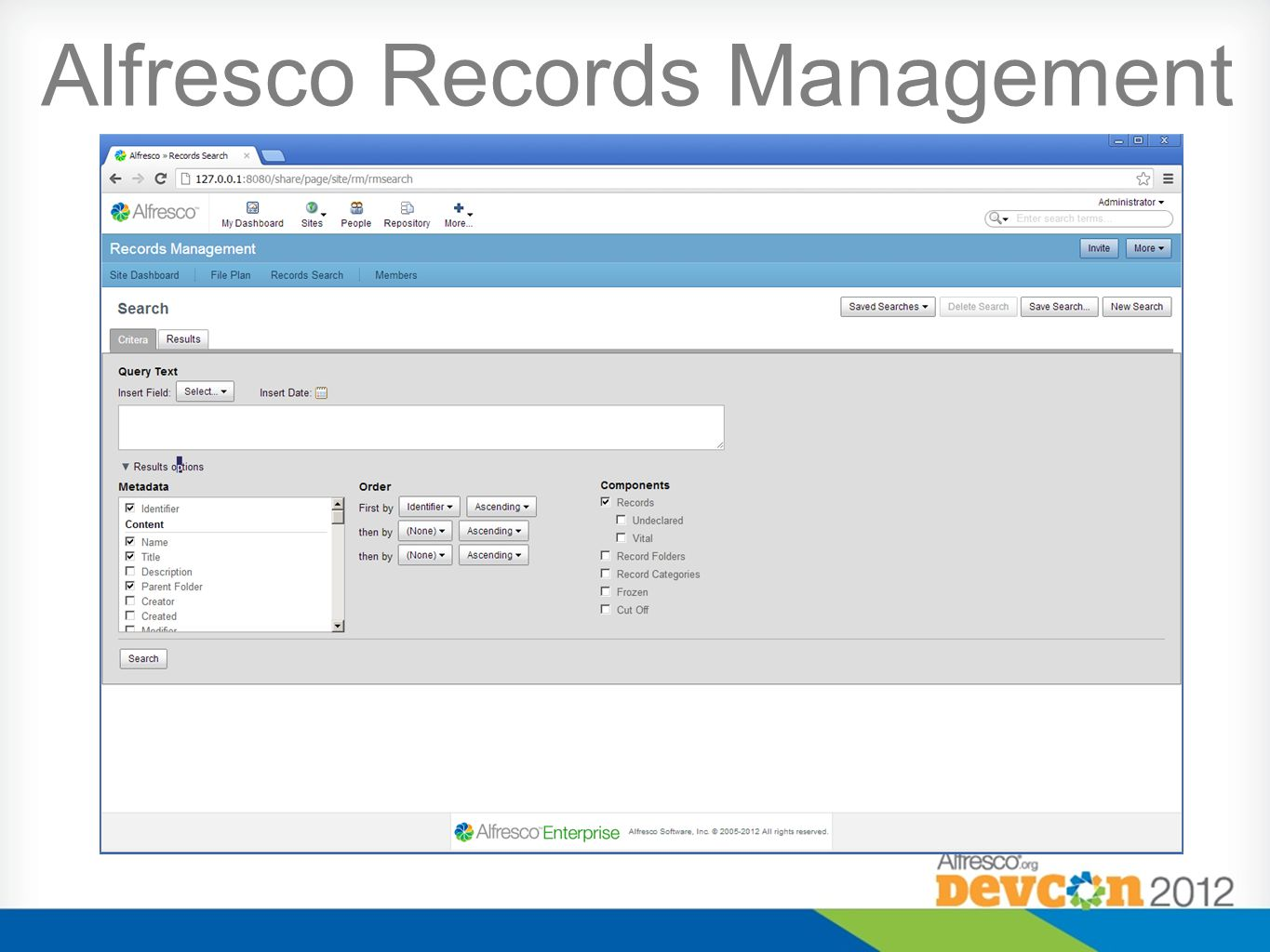 Alfresco Records Management