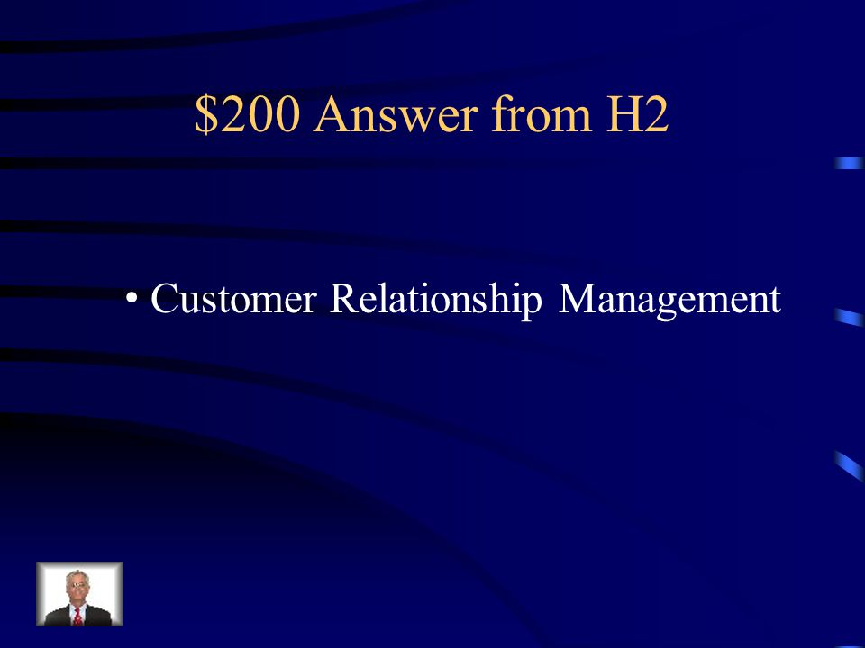 $200 Question from H2 CRM