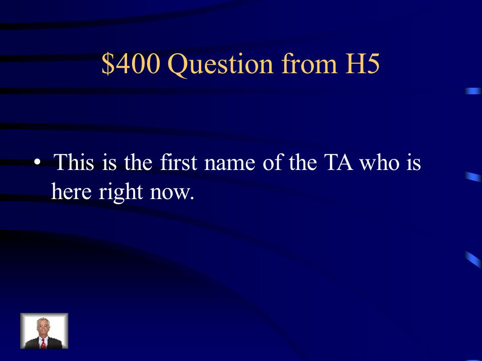 $300 Answer from H5 Waterfall Methodology
