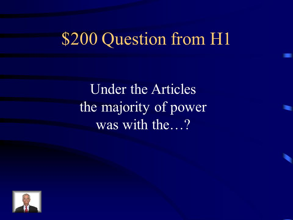 $200 Question from H4 I warned European nations not to interfere in the Western Hemisphere.