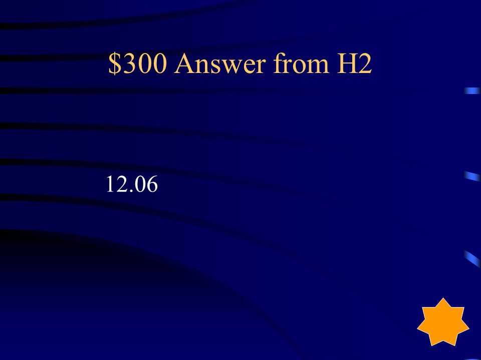 $300 Question from H2
