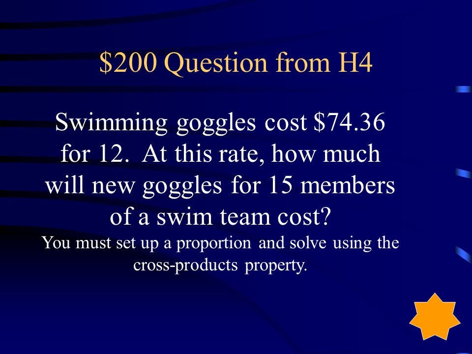 $100 Answer from H4 No, they both are simplified to different ratios: