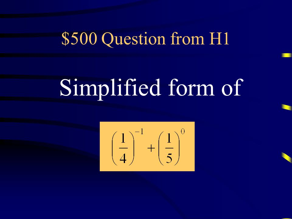 $400 Answer from H1 What is 0.2 Questions