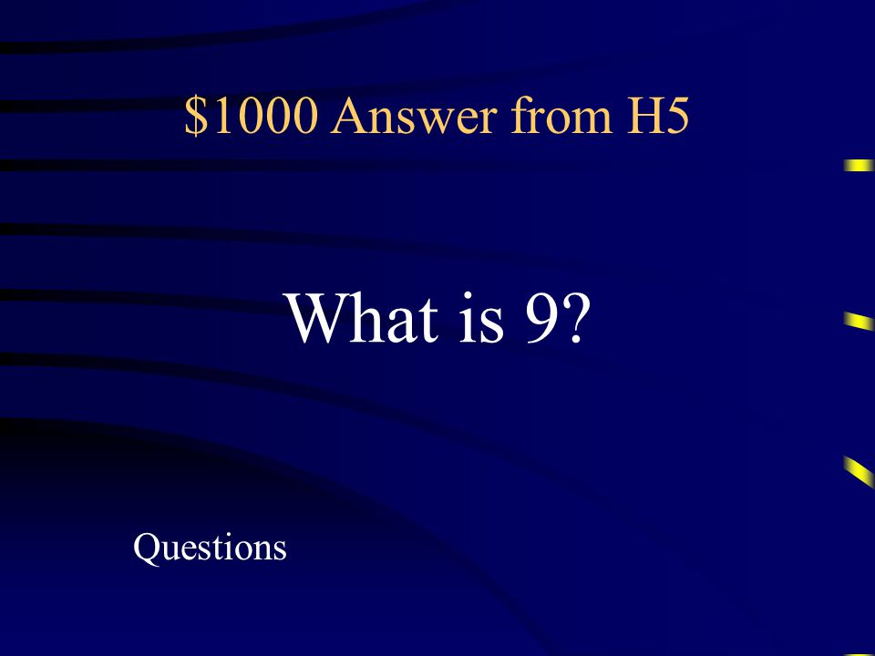 $1000 Question from H5 This is the degree of the polynomial 3x 2 y 7 + 4x 3 y 2 + 8y 6
