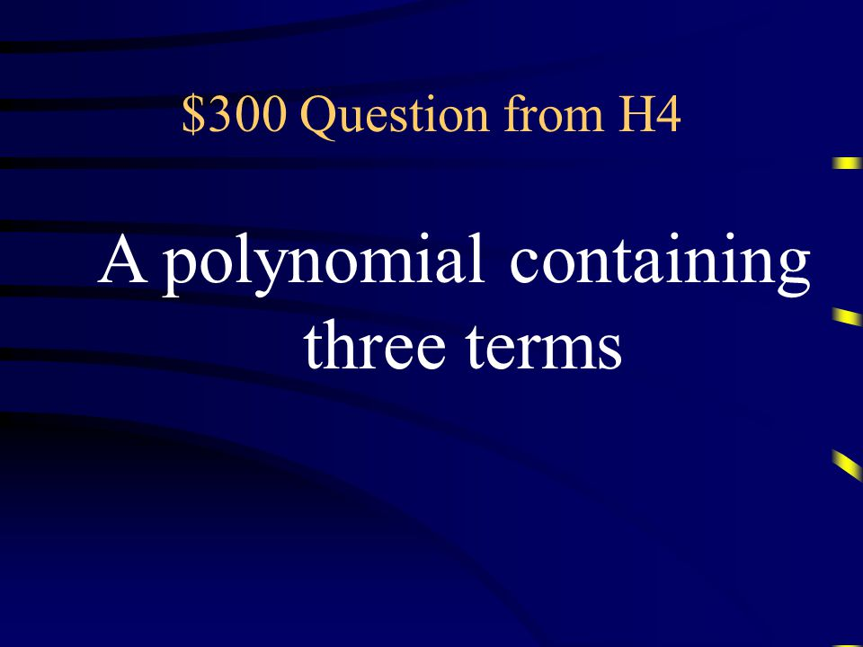 $200 Answer from H4 What is the coefficient Questions