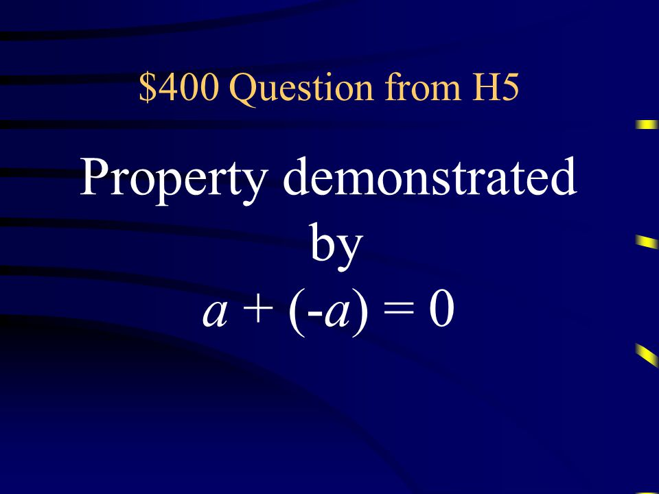 $300 Answer from H5 What the Commutative Property of Addition Questions