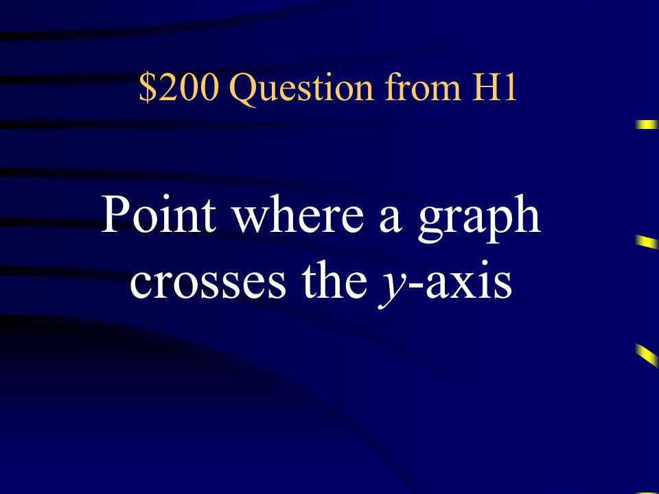 Double Jeopardy GraphingFunctionsSystems Think Radically AnythingGoes Q $200 Q $400 Q $600 Q $800 Q $1000 Q $200 Q $400 Q $600 Q $800 Q $1000 Final Jeopardy Final Jeopardy.