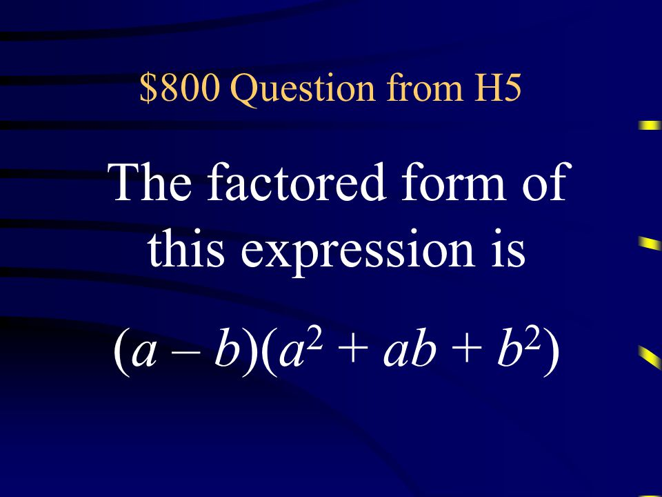 $600 Answer from H5 What is |A – B| or |B – A|? Questions