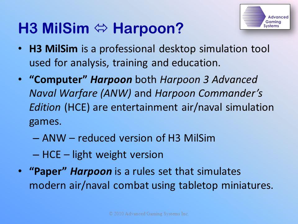 H3 MilSim  Harpoon.
