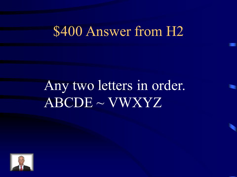 $400 Question from H2 Name one pair of corresponding sides. ABCDE ~ VWXYZ