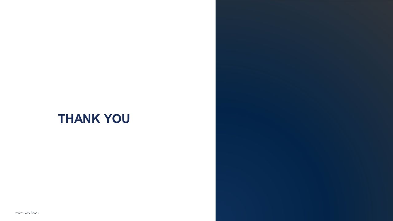 www.luxoft.com THANK YOU