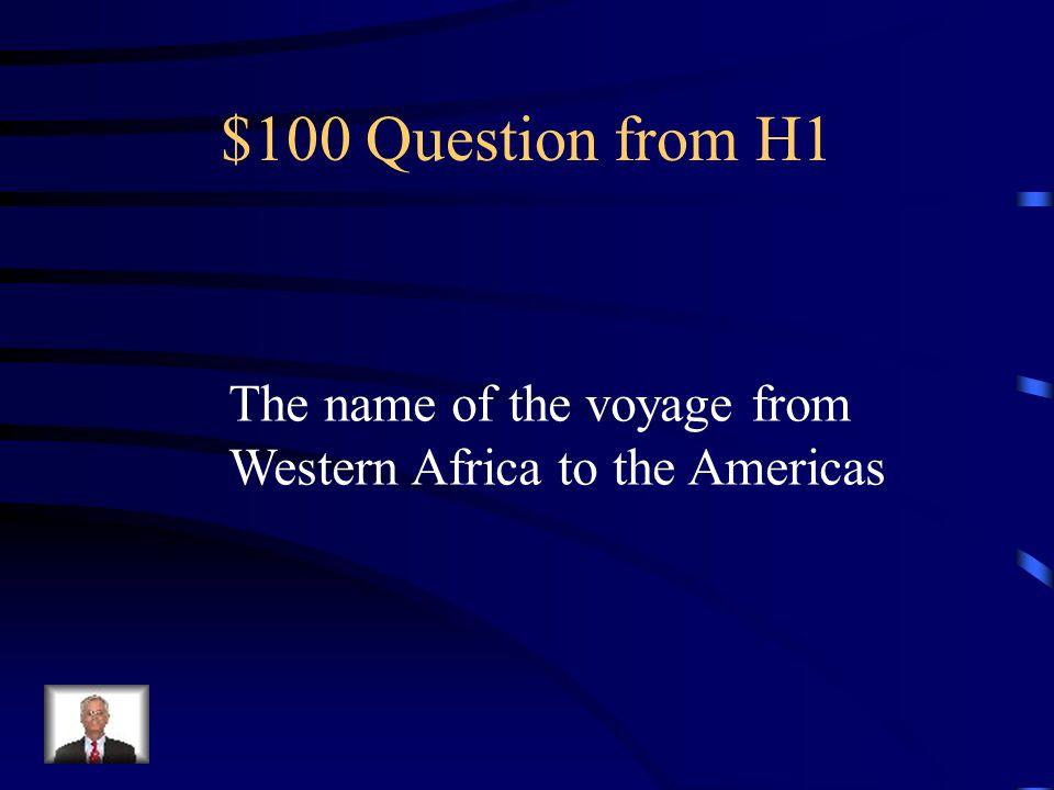Jeopardy Slave TradeComp.
