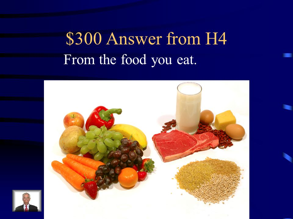 $300 Question from H4 Where does your body get the energy it needs