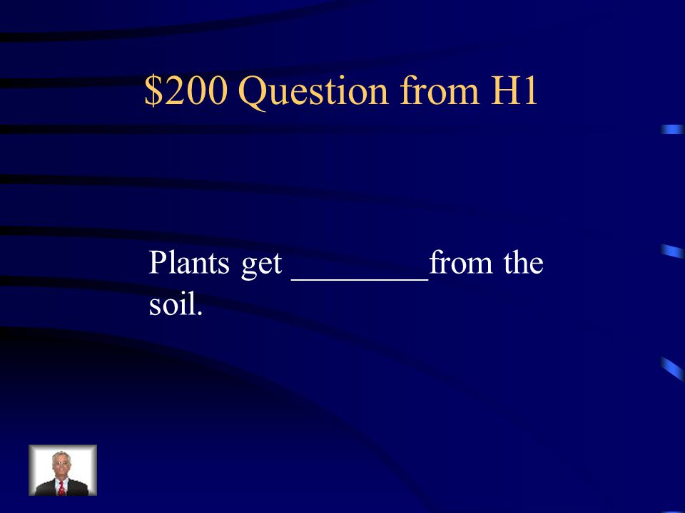 $200 Question from H3 Energy flows from plants to __________.