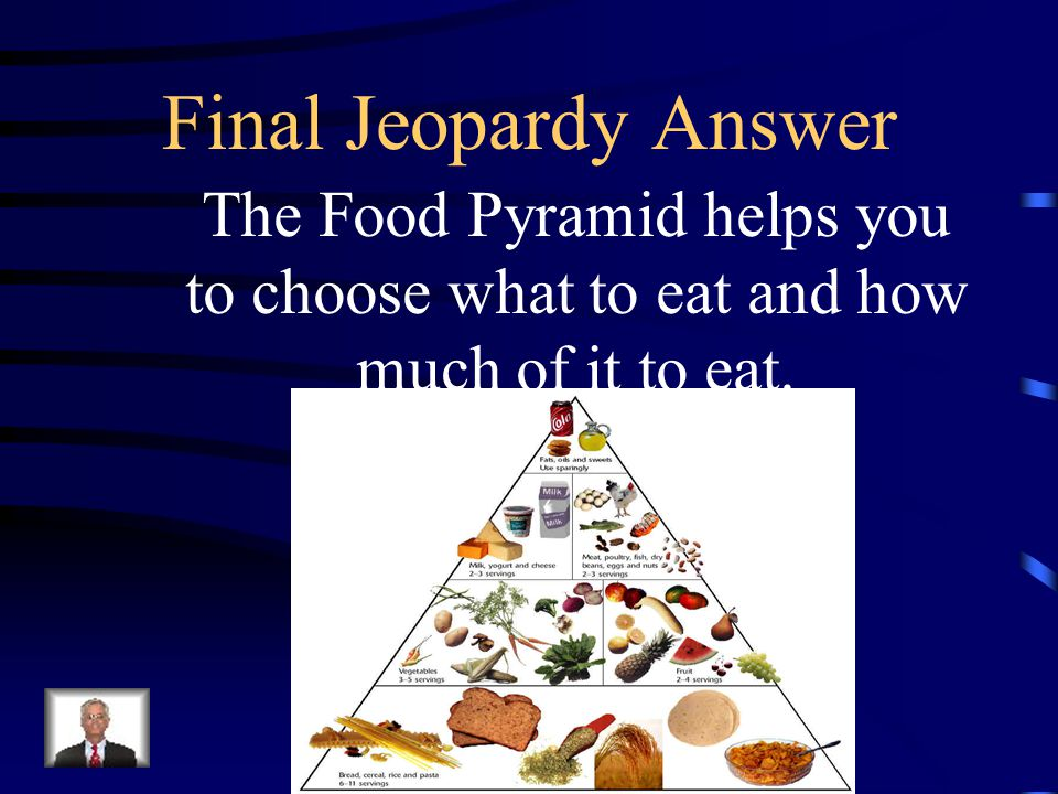 Final Jeopardy The ___________ _________ helps you to choose what to eat and how much of it to eat.