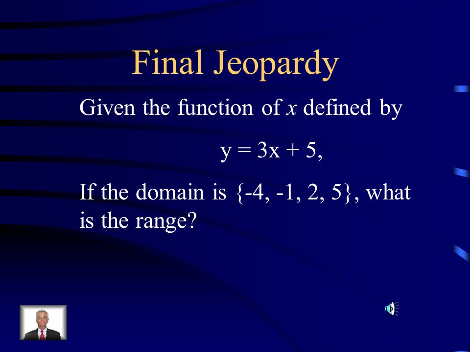 $500 Question from H5 The domain of the function ½x is {0, 2, 4}. What is the range of the function? A.{0, 1, 2} B. {0,4, 8} C. {2, 4, 6} D. {2, 4, 8}